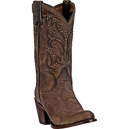 "Dan Post Western Boot Womens 11"" Bay Apache Round Toe 9 M Brown DP3516"