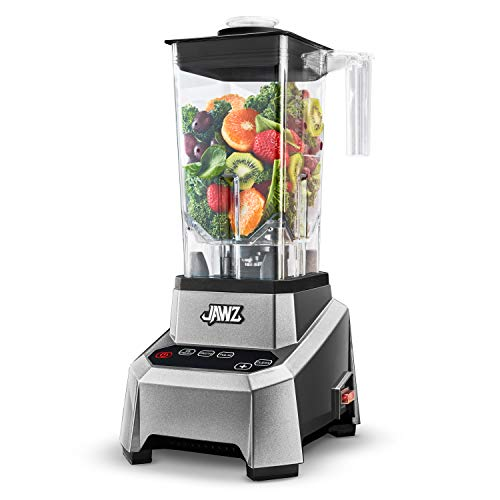 JAWZ High Performance – Precision Touch Variable Speed – Professional Grade Countertop Blender/Food Processor, 64 Ounce, Silver