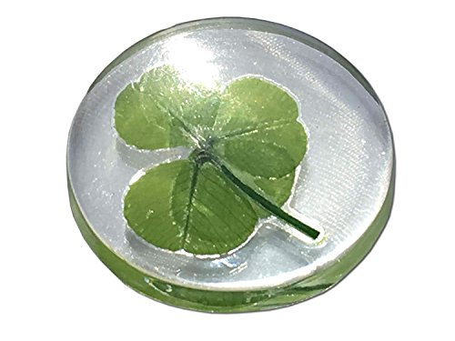 "KIN-HEBI Real Four Leaf Clover Good Luck Pocket Token, Preserved, 1.25"" -"