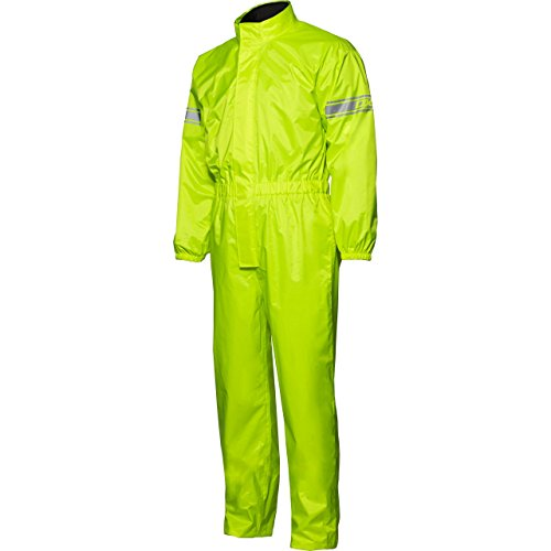 DXR Regenkombi Motorrad Regenbekleidung Regenanzug Textil Regenkombi, wasserdicht, Reflexmaterial am Oberarm, Packtasche…