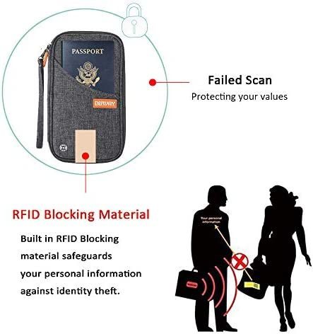 Travel Wallet RFID Blocking Document Organizer Bag, Family Passport Holder