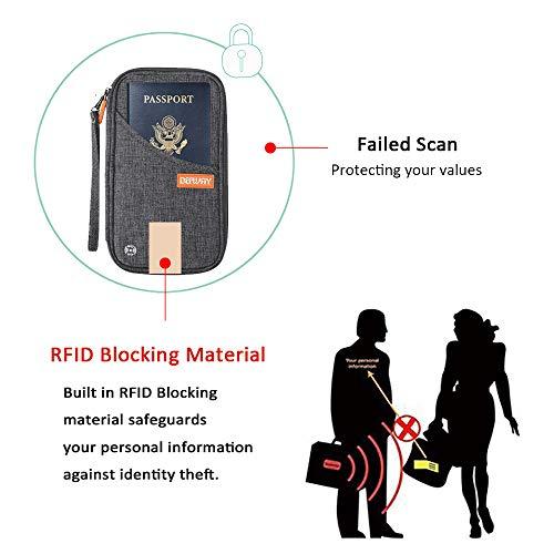 Travel Wallet RFID Blocking Document Organizer Bag, Family Passport Holder