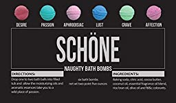 Schöne Bath Bombs, Naughty (Pack of 6)