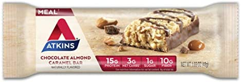 Atkins Protein Meal Bar, Chocolate Almond Caramel, Keto Friendly, 5 Count 2