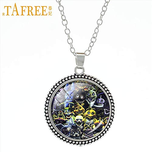 Pendant Necklaces - Cartoon Games Stock Vector Necklace & Pendant Five Nights at Freddy's Incredibly Unique Pendants Boys Girls Jewelry A244 - by Mct12-1 PCs