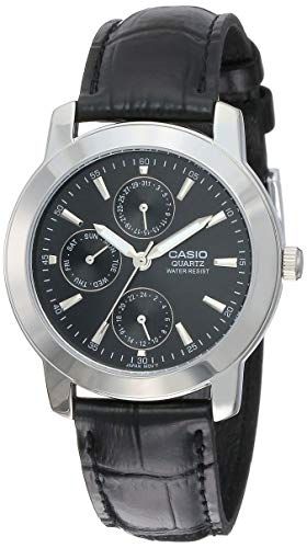 Casio Enticer Black Dial Men #39;s Watch   MTP 1192E 1ADF  A167