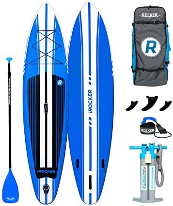 iROCKER Inflatable Sport Stand Up Paddle Board 11 Long 31 Wide 6 Thick SUP Package