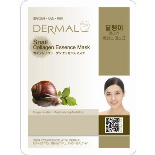 Dermal Korea Collagen Essence Full Face Facial Mask Sheet - Snail by Dermal