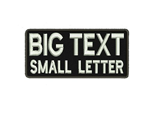 Name patch 2 Line, Big & Small Letter/ Personalized Custom Name Tape/ Tactical Morale Patch/ IRON (All Black Costumes Tumblr)