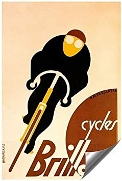   18x27 Vintage Poster CGSignLab  Brilliant Cycles by Adolphe Mouron Cassandre Outdoor Contour Wall Decor 5-Pack
