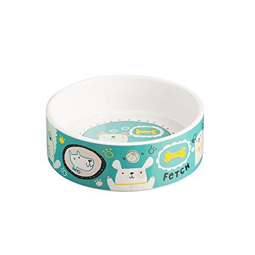 Mason Cash Ceramic Cartoon Dog Bowl, 6-Inches, 38-Fluid Ounces, Multi Colored Decorative Dog Bowls
