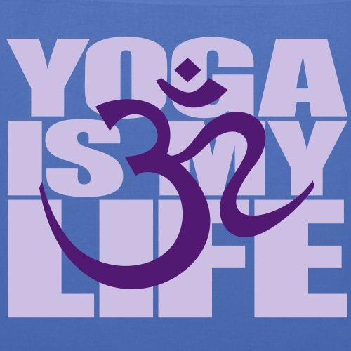 Symbol Blue Bag Spreadshirt Yoga Light With My Quote Life Is Tote Om qPAq0