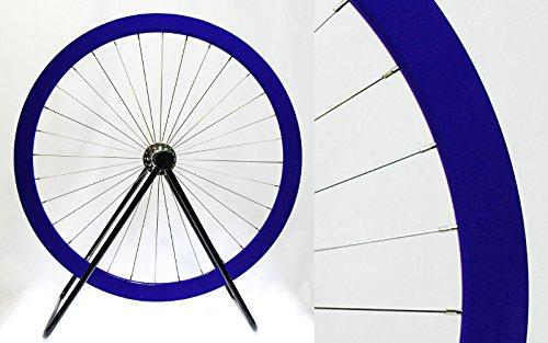 LongEdge 700C 42mm カラーホイール B06XQHSSH9 リヤ(後輪)用|ディープブルー ディープブルー リヤ(後輪)用
