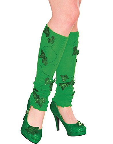 Poison Ivy Costume Online (Rubie's Women's Dc Comics Poison IVY Leg Warmers, Green, One Size)