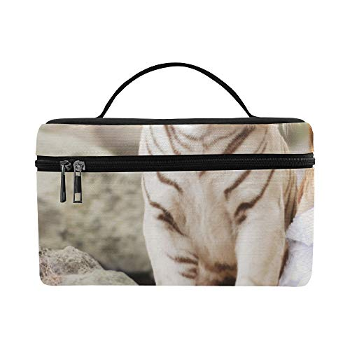 Natural Animal Dreamlike Tiger And Beautiful Girl Pattern Lunch Box Tote Bag Lunch Holder Insulated Lunch Cooler Bag For Women/men/picnic/boating/beach/fishing/school/work