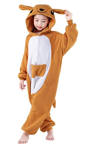 CANASOUR Unisex Halloween Kids Kangaroo Party Children Cosplay Pyjamas (125#(Size 10)) -
