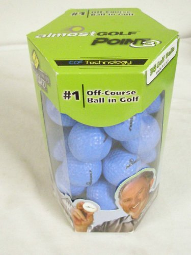 Almost Point3 36 Golf Balls (Restricted Flight) Blue Practice NEW, Outdoor Stuffs