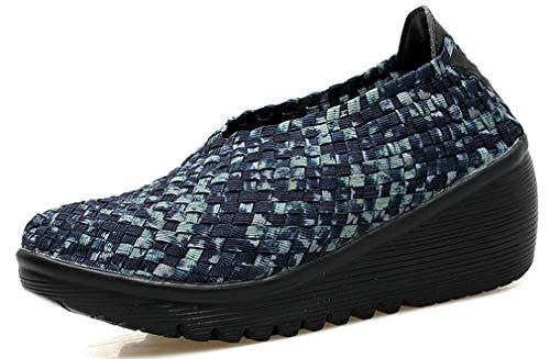 女性のためのFemaroly編み靴快適なマザーカジュアルアウトドアウォーキングシューズ