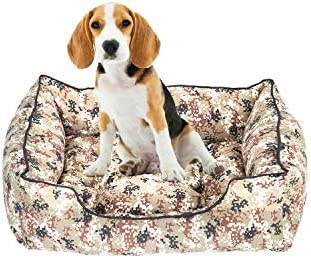Verde Militar Hiboy Pet Cama para Perros y Gatos con Colch/ón Extra/íble Sof/á para Mascotas Talla S