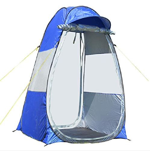 Likary Original Design Outdoor Sports Tent Sun Shelter Weather Pod Single Person Portable Tent Rainproof & Windproof Double Doors Sports Pop Up Tent (Blue) (Chair Tent)