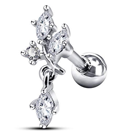 OUFER 16G 316L Surgical Steel Cartilage Earrings Stud Cluster Vine Dangle Tragus Earrings Helix Earrings - Helix Dangle