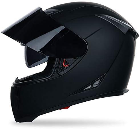 YOUXIU Gafas de Sol Casco Motocicleta Casco Integral Casco ...