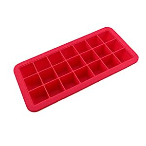 Safe And Soft Silicon Ice Cube Tray With Silicon Lid, Red