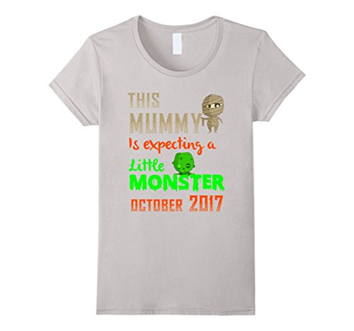 Cool Costumes For Moms - Womens Pregnant Mom Tshirt. Cool Halloween Costume For Women/Wife Medium Silver