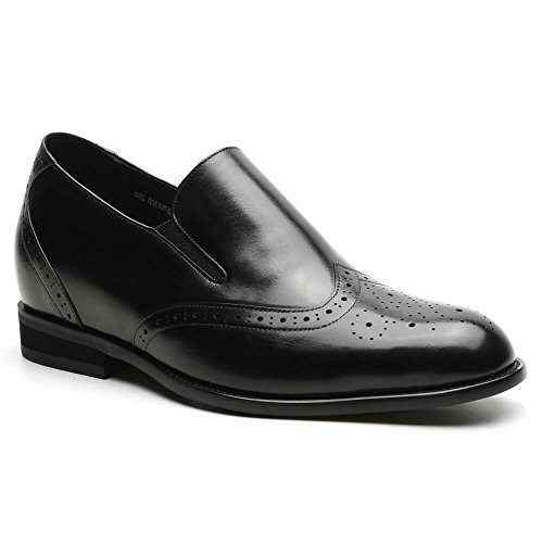 Shoes Elevator Men 76 2 inches Insole Oxford H81D37K031D Shoes Height Increasing CHAMARIPA Taller 32D Men Taller Black Loafers qFznAd