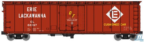 50' PC&F Insulated Boxcar - Ready to Run -- Erie-Lackawanna #68397 (Boxcar Red, white; Diamond Logo)