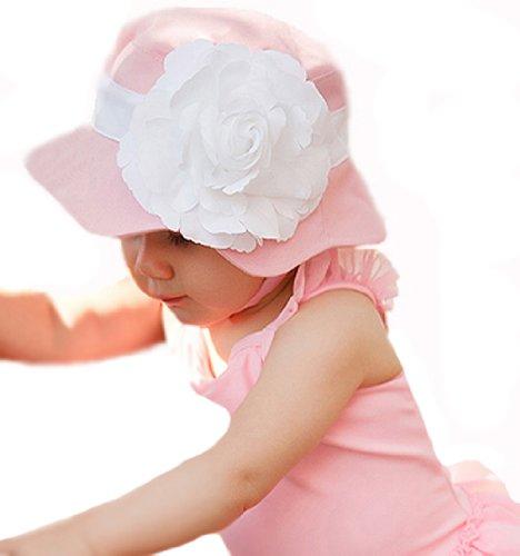 Melondipity's Bora Bora Baby Beach Hat - High Quality - Durable - Oversized Rose (2-4T)