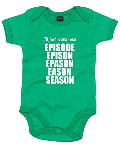 I'll Just Watch One Episode, Printed Baby Grow - Kelly Green/White 0-3 (Grimm Season 1 Episode 2)