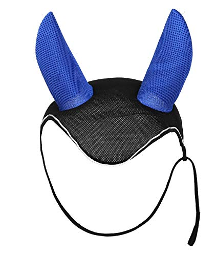 (CatYou Horse Ear Net Mask Soft Breathable Meshed Ear Cover Hood Ear Protector Bonnet Equestrian)