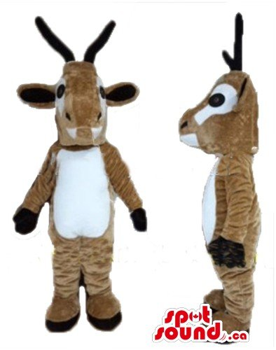 [Pair of deluxe white and brown Christmas Reindeer SpotSound Mascot US costume] (Deluxe Reindeer Mascot Costumes)