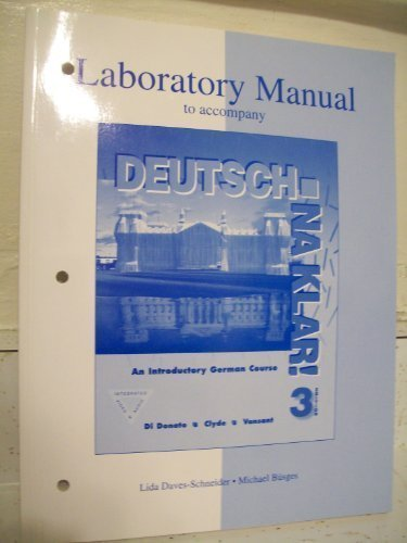 Lab Manual to accompany Deutsch:  Na klar!  An Introductory German Course