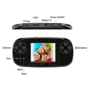 "Game Handheld Console,Rongyuxuan Game Console 2.8""LCD PVP PLUS Game Player with 168 Games Classic Handheld Game Console USB Charge Birthday Christmas Gift for Children"