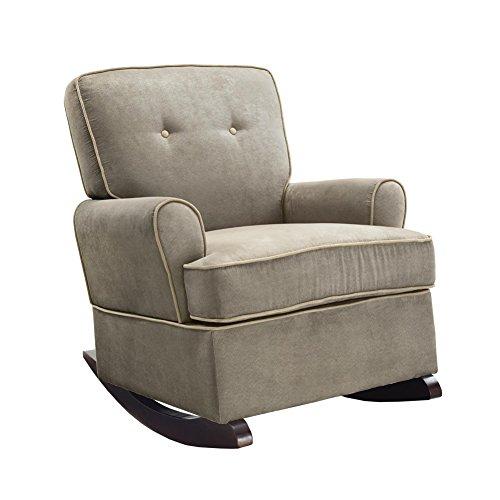 Baby Relax The Tinsley Nursery Rocker Chair, Light Brown