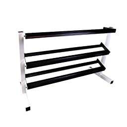 Cap Barbell Unisex-adult Workouts 3 Tier Dumbbell Rack Blk/ Wht