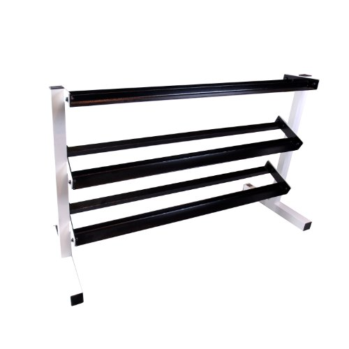 Cap Barbell Unisex-adult Workouts 3 Tier Dumbbell Rack Blk/ Wht by CAP Barbell