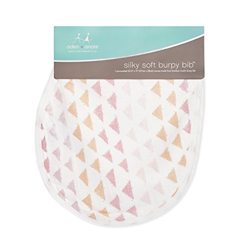 "aden + anais Silky Soft Metallic Burpy Bib; 100% Viscose bamboo Muslin; Soft Absorbent 4 Layers; Multi-Use Burp Cloth and Bib; 22.5"" X 11""; Single; Primrose by aden + anais (Image #2)"