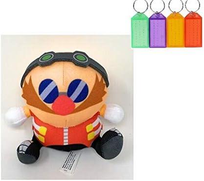 Amazon Com Sonic The Hedgehog Dr Eggman Plush Stuffed Figure Official Licensed Bonus With Name Tag Dr Eggman Toys Games