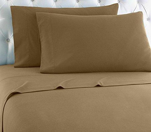 Lavish Linens 1800 Series Microfiber- Sleeper Sofa Sheet Set Solid, Taupe, Full Size (54