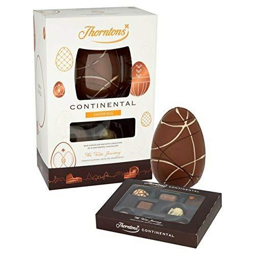 B-Creative Uova Deluxe Pasqua Cioccolato Latte Bianco Regalo Classico Collezione Famiglia Pacchetto Continental Egg