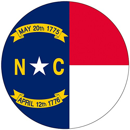 Chic 3 in 1 North Carolina Flag Jumbo Badge Button Pin 3.75 Inches (Party City Utah)