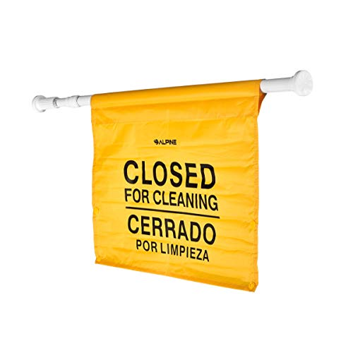"""Alpine Industries """"Closed for Cleaning"""" Hanging Safety Sign - Heavy Duty Warning Precaution - for Establishments and Commercial Use by Alpine Industries (Image #1)"""