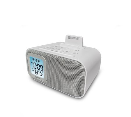 iHome Wireless Bluetooth Alarm Clock with Dual Independent A
