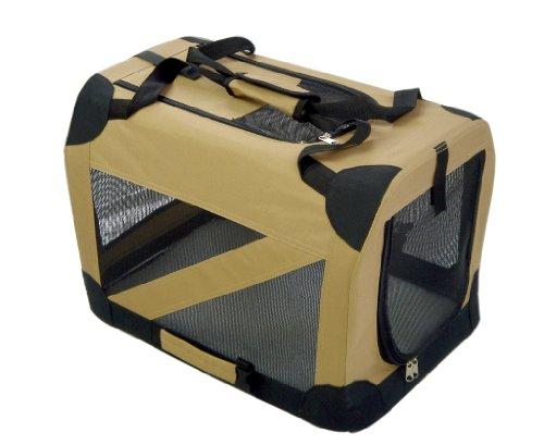 Folding-Zippered-360-Vista-View-House-Pet-Crate-Small-Khaki