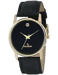 Peugeot Mens 2043BK Analog Display Japanese Quartz Black Watch