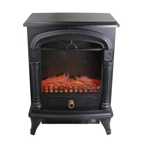 Cheap Comfort Zone CZFP4 1500-Watt Electric Fireplace Stove Heater with Realistic 3D Flame Effect Black Black Friday & Cyber Monday 2019