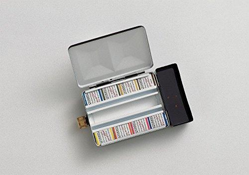 Schmincke Horadam Aquarell Half-Pan Paint Metal Set with Water Container, Set of 8 Colors - Pigment Schmincke